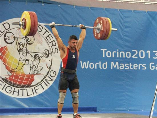 160 kg slancio BOMBACI RECORD DEL MONDO 550