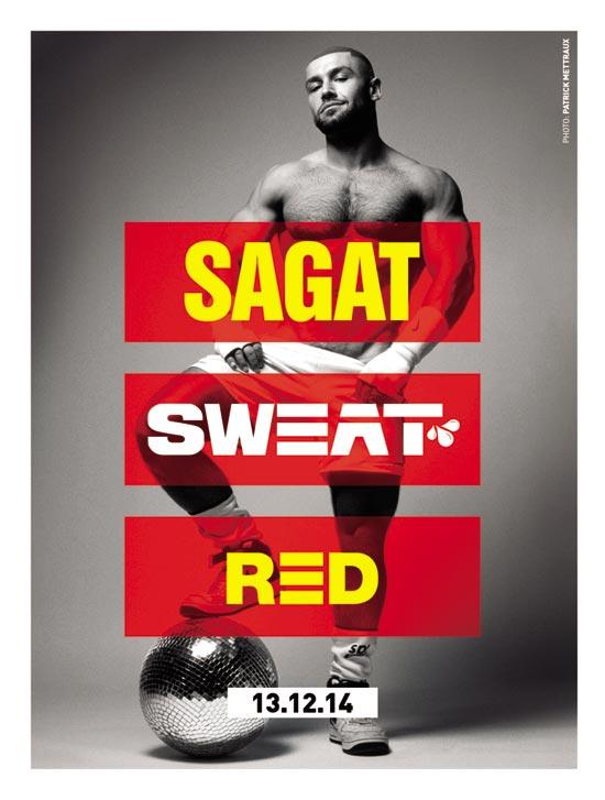 SWEAT SAGAT-RED 550