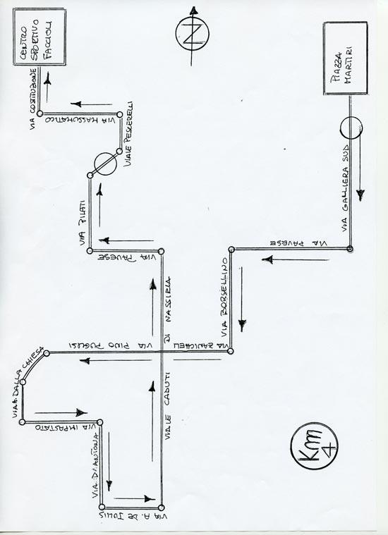 percorso camminata 550