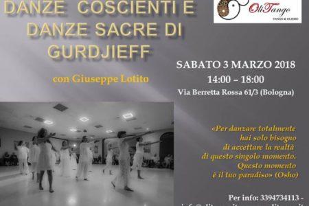 OliTango Bologna – sabato 3 marzo 2018 – Seminario di Danze Coscienti e Danze Sacre di Gurdjieff