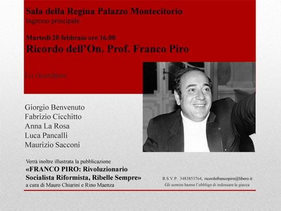 invito Ricordo FRANCO PIRO