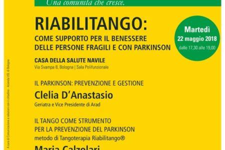 Incontro aperto alla cittadinanza sulla Tangoterapia – martedì 22 maggio 2018