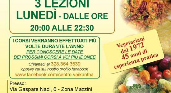CENTRO VAIKUNTHA: Corso di Cucina Vegetaria e Vegana