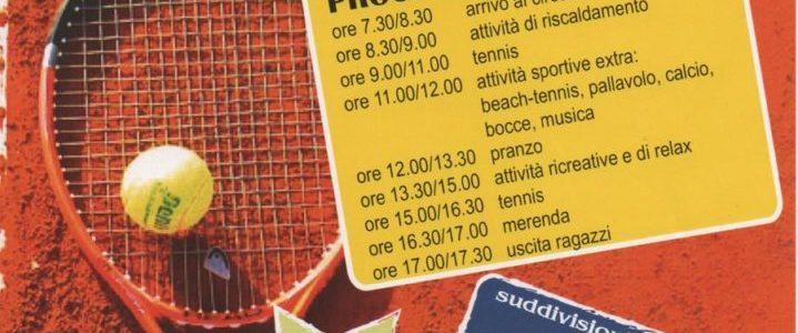 STAGE ESTIVO DI TENNIS PER RAGAZZI COME PROSEGUIMENTO DELL'ATTIVITA' INVERNALE