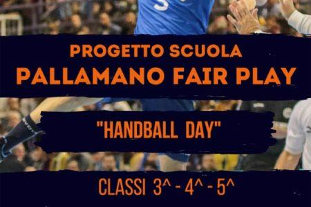 "PROGETTO SCUOLA PALLAMANO FAIR PLAY: ""HANDBALL DAY"""