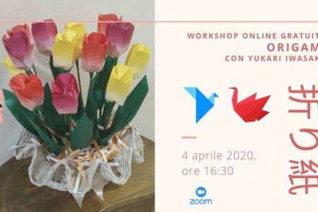 Workshop online di origami con Yukari Iwasaki