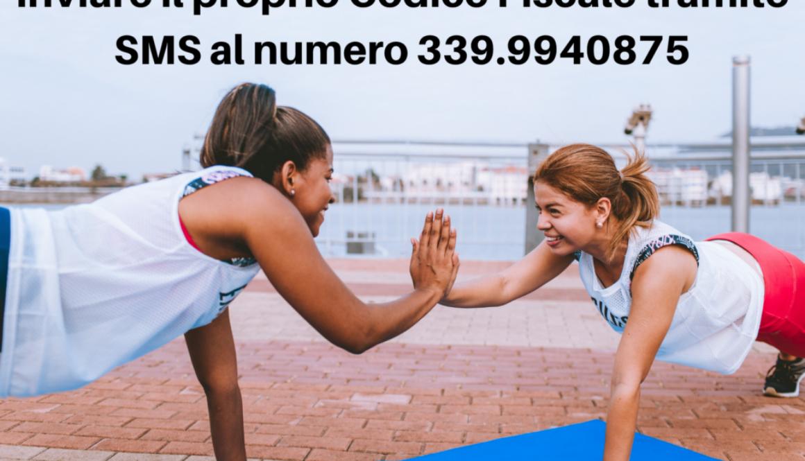Inviare il proprio Codice Fiscale tramite SMS al numero 339.9940875