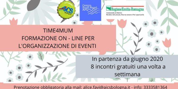 Time4Mum – Formazione online per l'organizzazione di eventi
