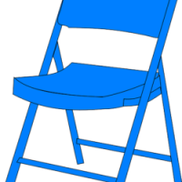 sedia blu