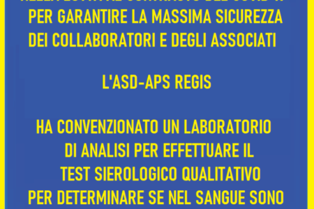 Sierologico qualitativo presso l'ASD REGIS