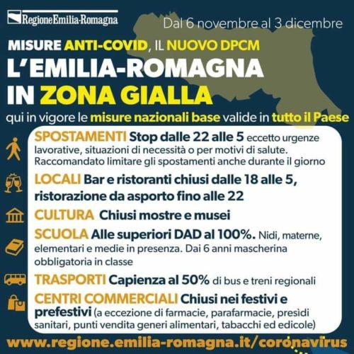 Emilia-Romagna Zona GIALLA