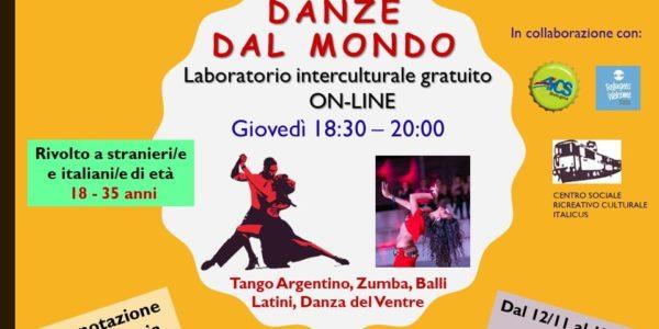 Danze dal Mondo – Laboratorio interculturale gratuito online