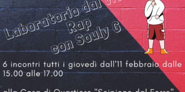 Laboratorio dal vivo di RAP con Souly G