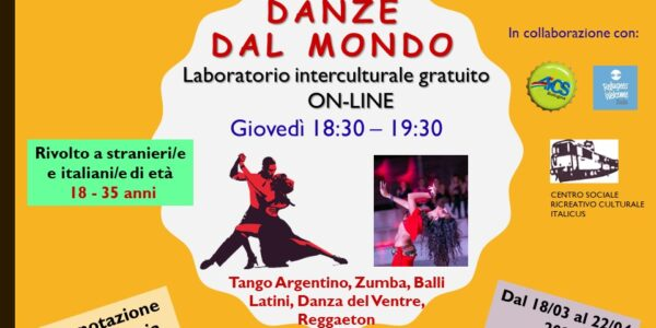 Danze dal Mondo – Laboratorio gratuito online