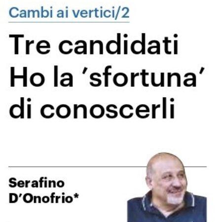 """D'Onofrio per il Resto del Carlino: chi sono i tre candidati di sinistra che ho la """"sfortuna di conoscere"""""""