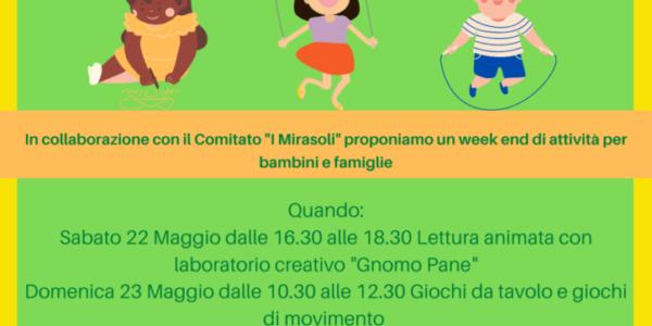 Un week end da Mirasoli: giochi, letture e laboratori alla piazzetta Miramonte