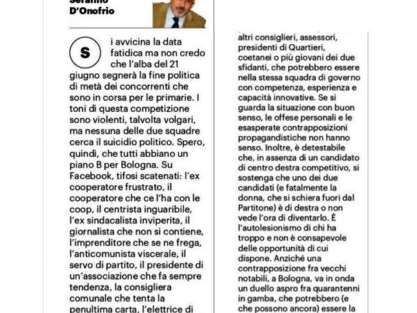 """""""Due giovani amministratori da fare invidia"""" – Serafino D'Onofrio x Il Resto del Carlino"""