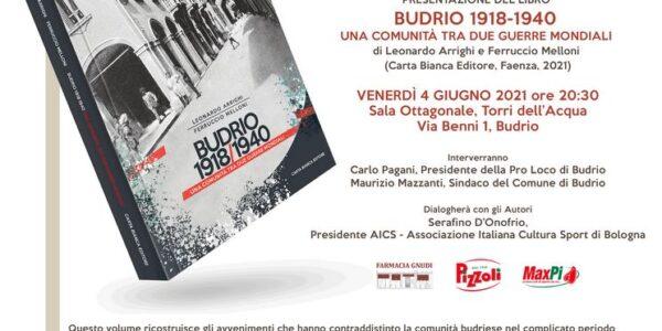 """presentazione del libro """"Budrio 1918-1940"""""""
