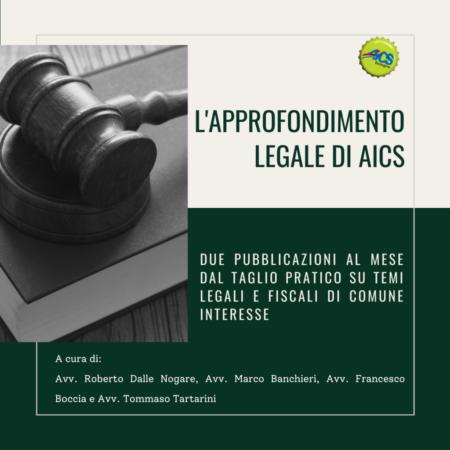 L'APPROFONDIMENTO LEGALE DI AICS: Voucher o rimborso?